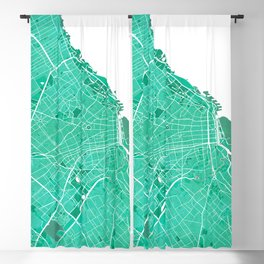 Buenos Aires City Map of Argentina - Watercolor Blackout Curtain
