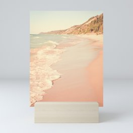 Her Mind Wandered Back and Forth With the Waves Mini Art Print