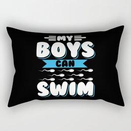 My Boys Can Swim - Funny PREGNANCY ANNOUNCEMENT Rectangular Pillow