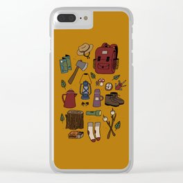 Happy Camper Clear iPhone Case