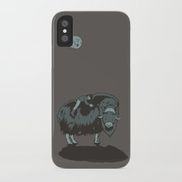 Muskox by moonlight iPhone Case