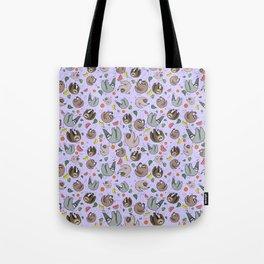 Pretty Sloth Pattern Tote Bag