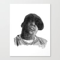 biggie Canvas Prints featuring Biggie by Finn Art