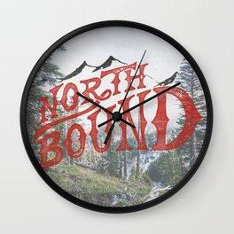 North Bound  Wall Clock