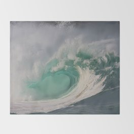 Waimea Shore Break Throw Blanket
