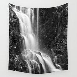 Avalon Falls - Black & White Wall Tapestry