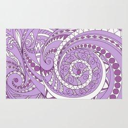 zen tangled swirl pattern 1 on the violet Rug