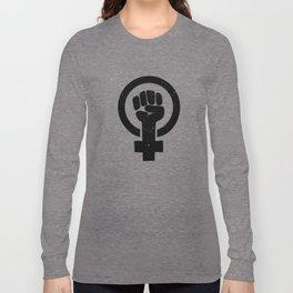 Feminist Raised Fist Long Sleeve T-shirt