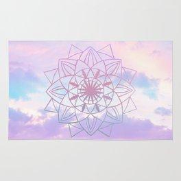 Star Mandala Unicorn Pastel Clouds #1 #decor #art #society6 Rug