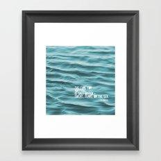SaltWater Cure Framed Art Print
