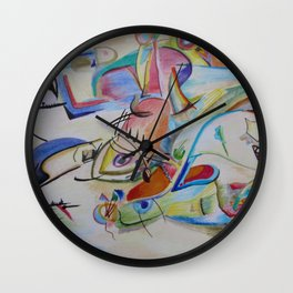 inspiration from Kandinsky . illustration . Wall Clock