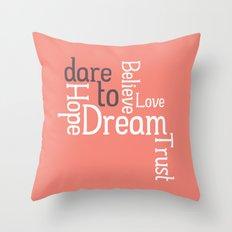 Dare to Love -- Alternate Version Throw Pillow