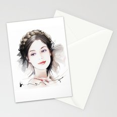Girls portrait Stationery Cards