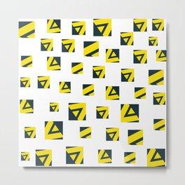 Geometric art pattern 6 Metal Print