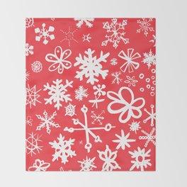 Snowflakes Throw Blanket