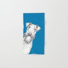 Peeking Dog Hand & Bath Towel