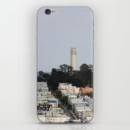 Streets Of San Francisco With Coit Tower iPhone Skin