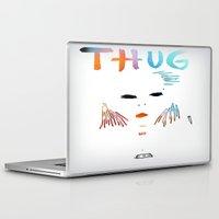 tupac Laptop & iPad Skins featuring BadA$$ B$tch: Thug Life by Alejandra Cantu