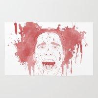 patrick Area & Throw Rugs featuring Patrick Bateman by Itxaso Beistegui Illustrations