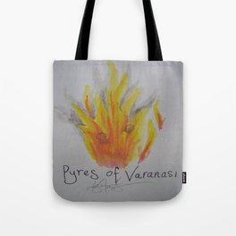 Pyres of Varanasi. Tote Bag