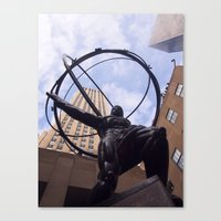 atlas Canvas Prints featuring Atlas by KL Photography