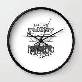 Vintage Airplane Emblem Wall Clock