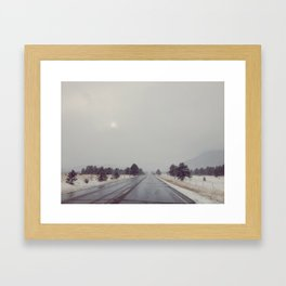 Colorado Road Trip in the Snow Framed Art Print