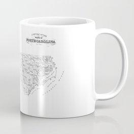 North Carolina Surf Map Coffee Mug