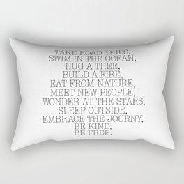 Take road trips. Rectangular Pillow