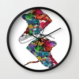 Paint sneakers Wall Clock