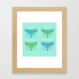 Owl Tribe II Framed Art Print