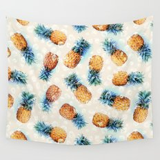 Pineapples + Crystals  Wall Tapestry