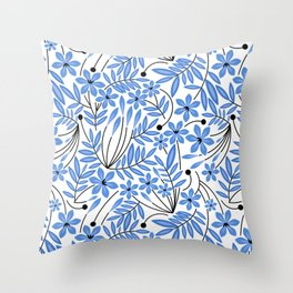 Spring Blues - Daffodils Throw Pillow