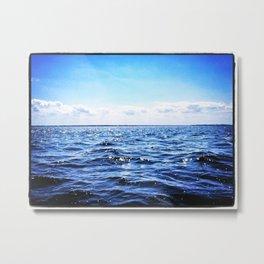 Deep Blue Seaside Metal Print