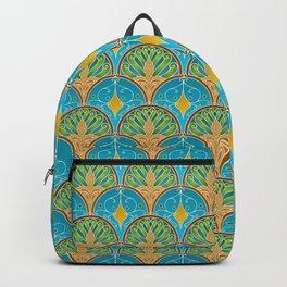 Art Deco Peacock Fans Backpack