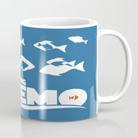 finding nemo Mugs featuring Finding Nemo by Citron Vert