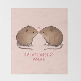 Relationship Voles Throw Blanket