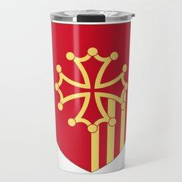 Languedoc-Roussillon symbol shield Travel Mug