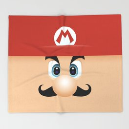 Mario With Cool Mustache Throw Blanket