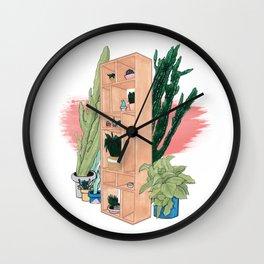 Office Plants Wall Clock
