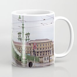 Yellow Tram in Budapest Coffee Mug