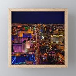 USA Photography - Downtown Las Vegas Framed Mini Art Print
