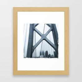 City in the Clouds- San Francisco  Framed Art Print