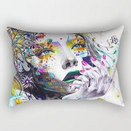 She is Flowers Rectangular Pillow