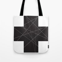 cross Tote Bags featuring Cross by hyun yu