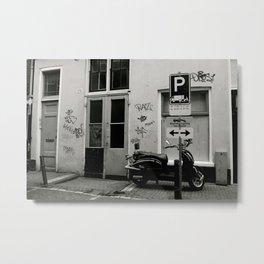 Amsterdam B&W Metal Print