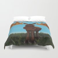 moose Duvet Covers featuring Moose by Laura Miller