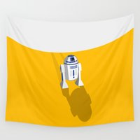 r2d2 Wall Tapestries featuring R2D2 Tatooine by POP Collective