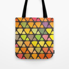 Bright colorful abstract triangles retro pattern Tote Bag