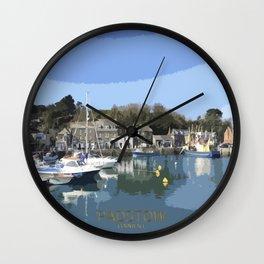 Padstow Cornwall UK Wall Clock